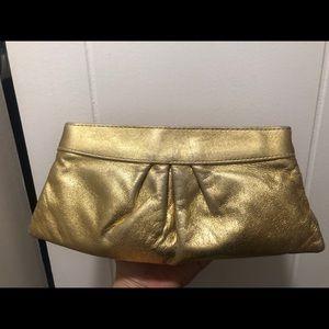 Gold Lauren Merkin Clutch
